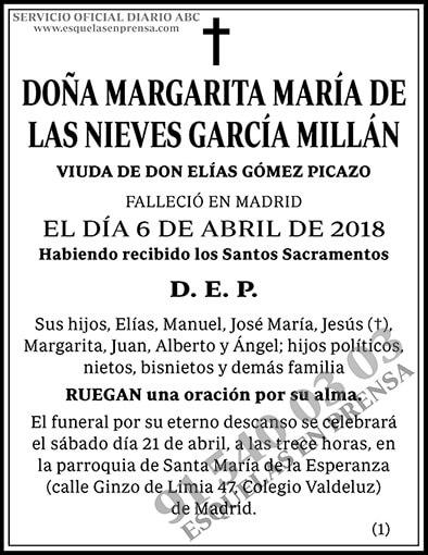 Margarita María de las Nieves García Millán